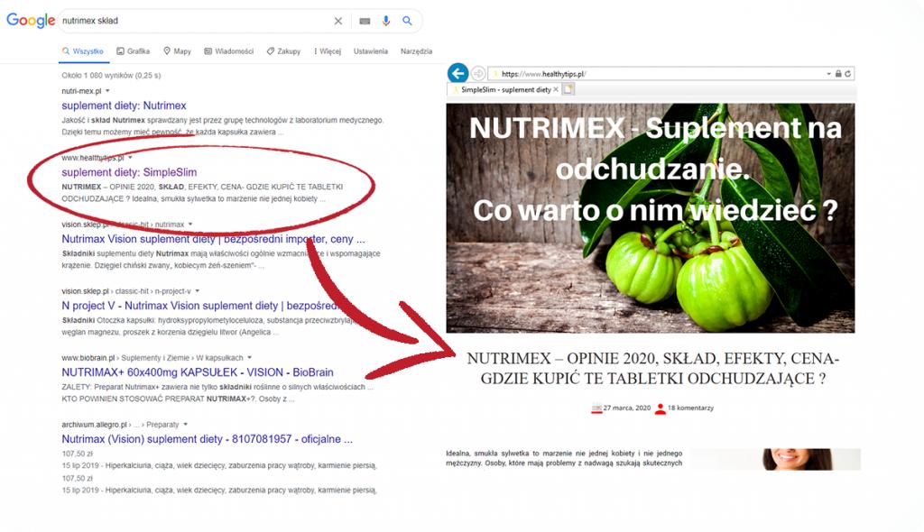 nutrimex tabletki
