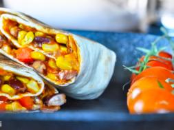 Burrito w wersji wegetariańskiej